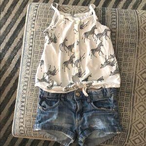 ON zebra tank//H&M shorts